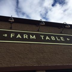Farm Table sign